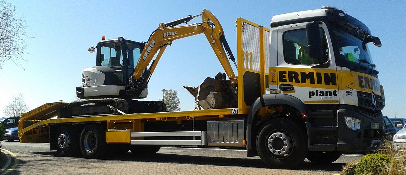 Excavator on Truck