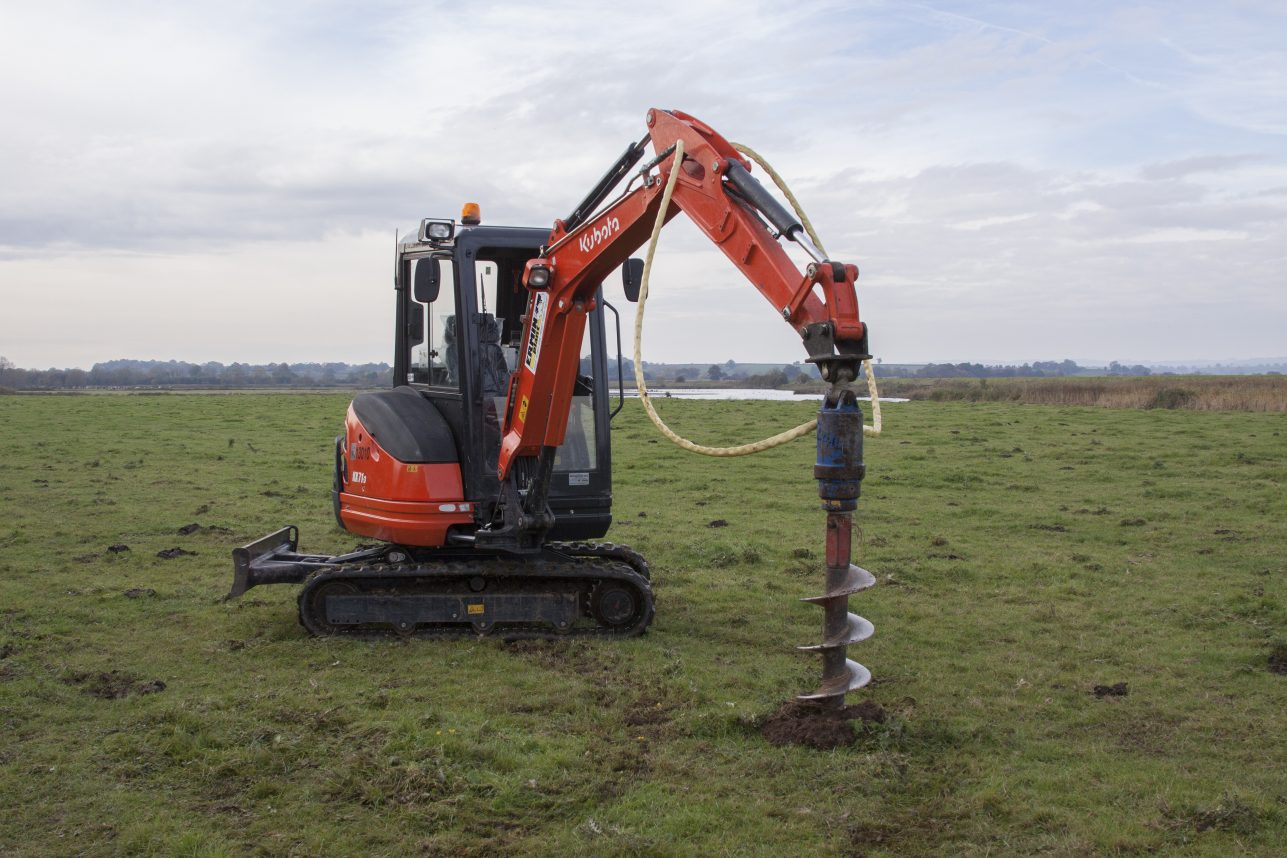 Digger with Auger