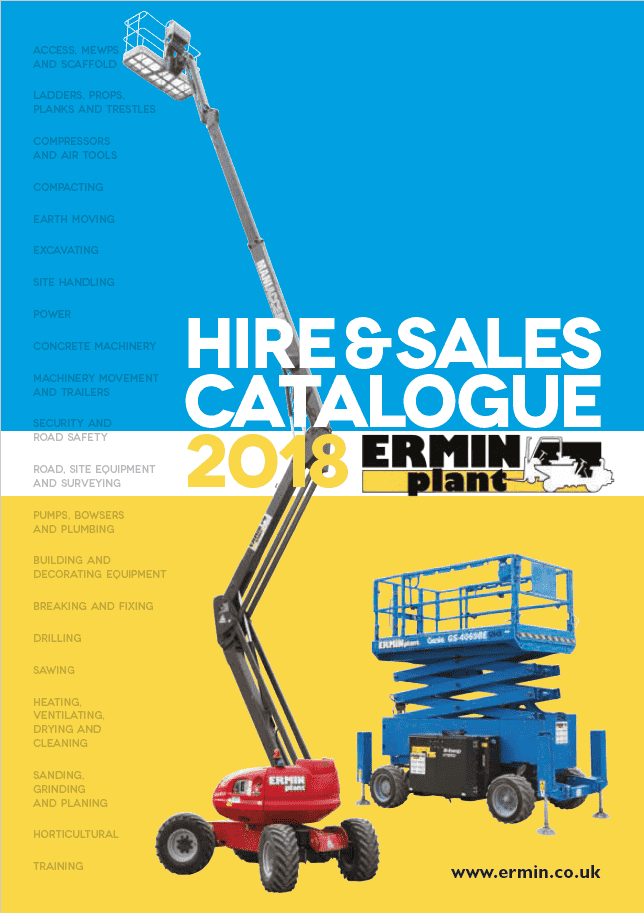 2018 Hire and Sales Catalogue Front Page