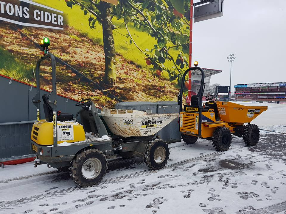 Dumpers at Gloucester Rugby Club Kingsholm