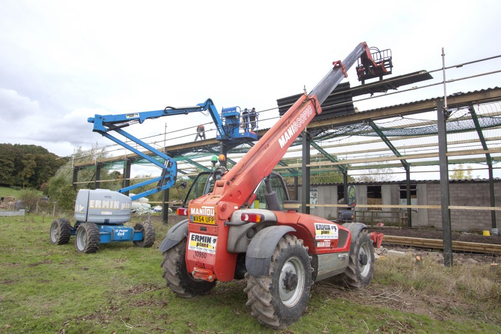 Manitou Telehandler and Genie Boom