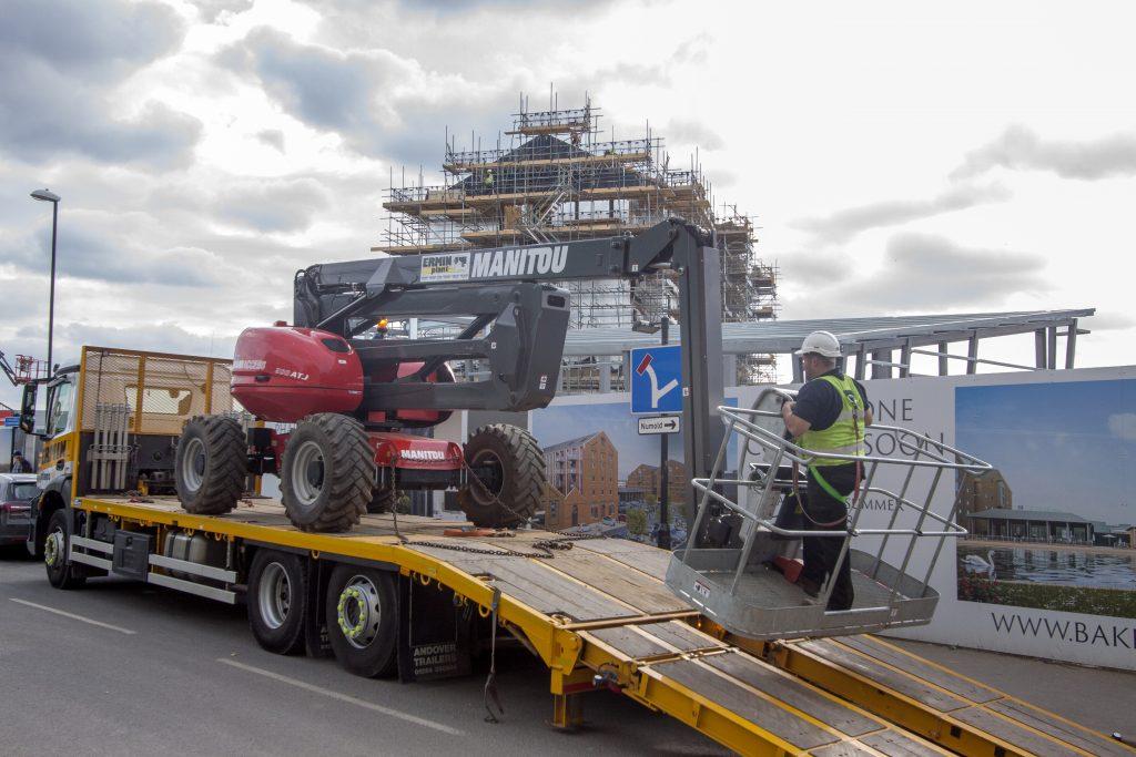Gloucester Quays Manitou 200ATJ On Site